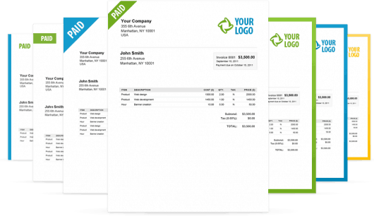 Invoices created with BillGrid