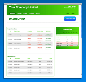 Screenshot of Invoiceberry's software